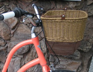 Bike Bicycle Riding Storage Brown NEW! AXIOM QR Wicker Style Front Basket